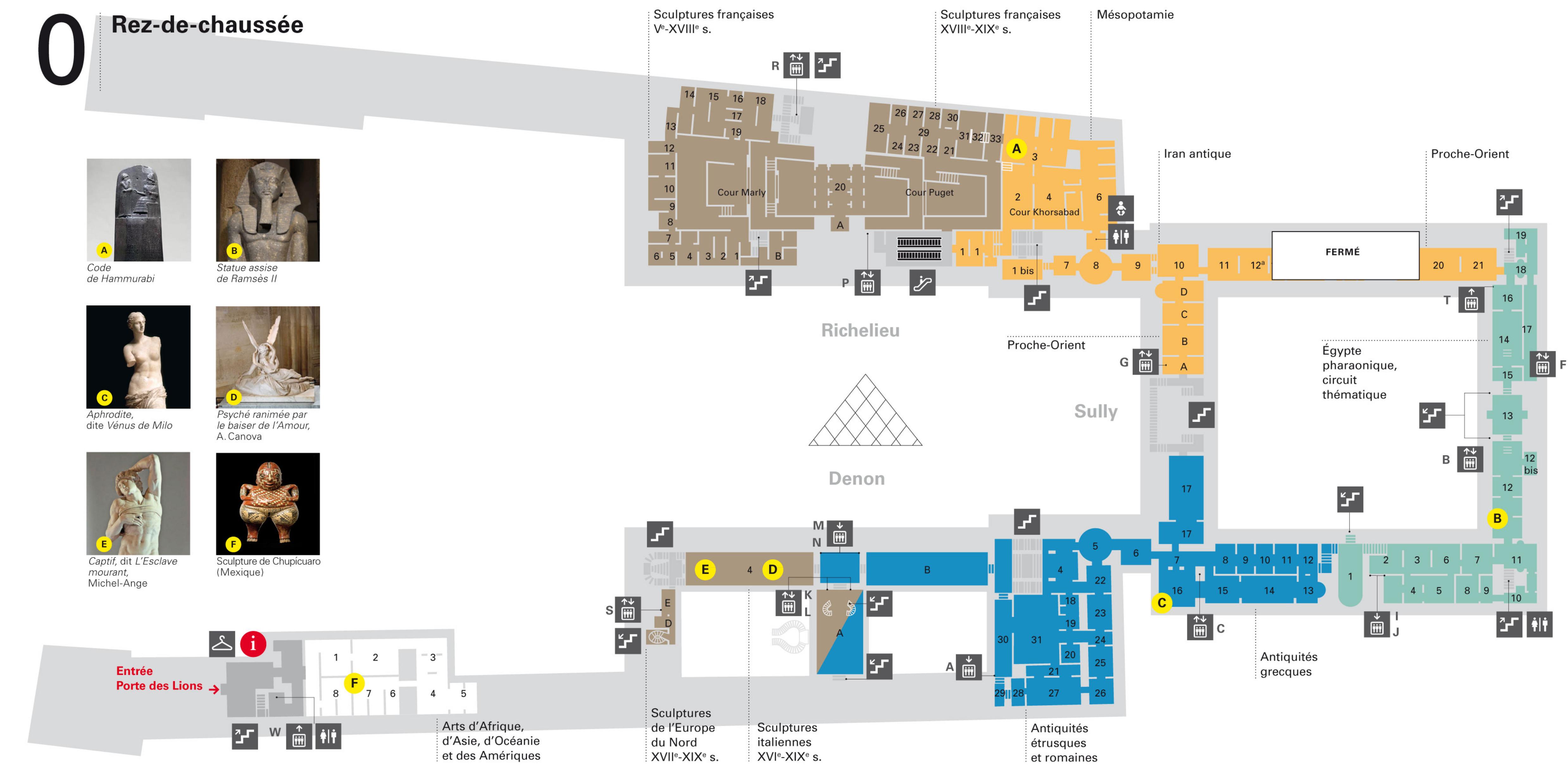 Ground Floor Plans Plan Du Louvre Paris By Night